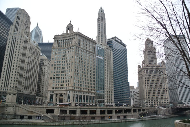 January In Chicago: The Cityscape By The Chicago River