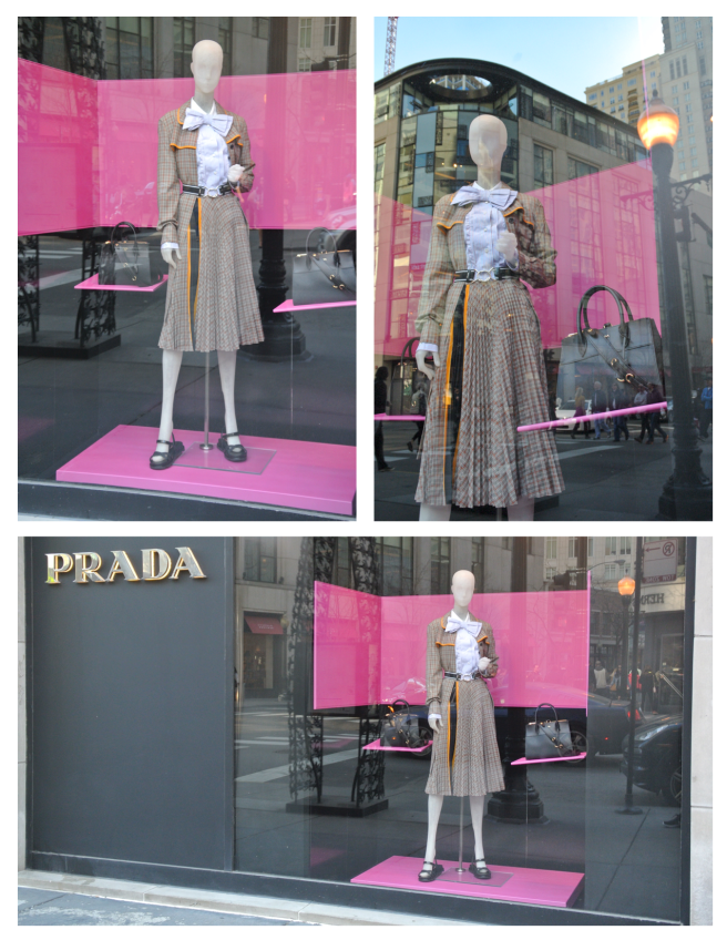 Prada:  A Background Of Pink Delight